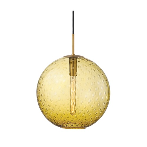 Hudson Valley Lighting Hudson Valley Lighting Rousseau Aged Brass Pendant Light with Globe Shade 2015-AGB-LA