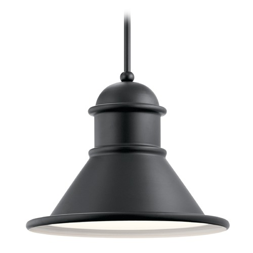 Kichler Lighting Farmhouse Barn Light Outdoor Hanging Light Black by Kichler Lighting 49777BK