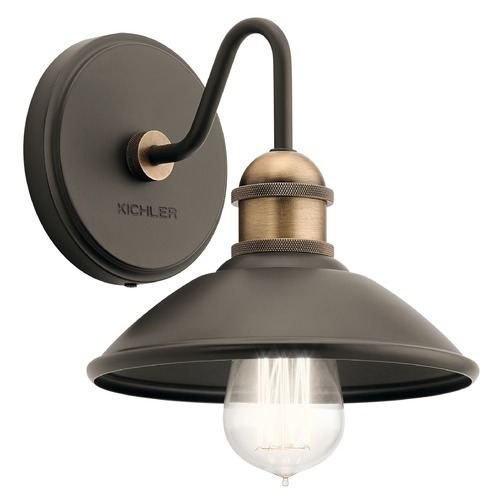 Kichler Lighting Farmhouse Sconce Olde Bronze Clyde by Kichler Lighting 45943OZ