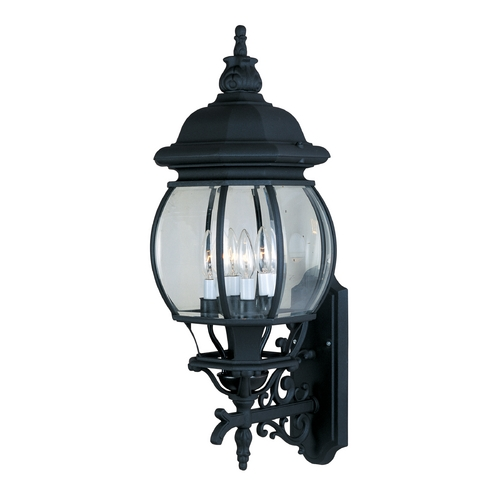 Maxim Lighting Outdoor Wall Light with Clear Glass in Black Finish 1037BK