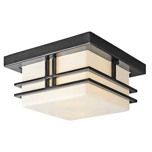 Kichler Lighting Kichler Modern Outdoor Ceiling Light in Black Finish 49206BK