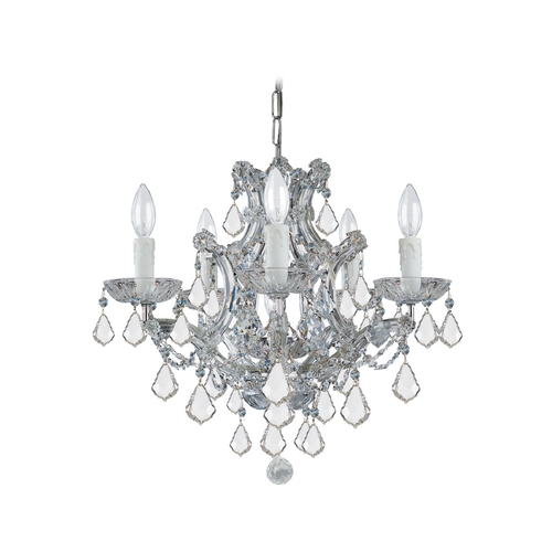 Crystorama Lighting Crystal Mini-Chandelier in Polished Chrome Finish 4405-CH-CL-MWP