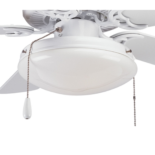 Progress Lighting Progress Ceiling Fan Light Kit with White Glass in White P2611-30