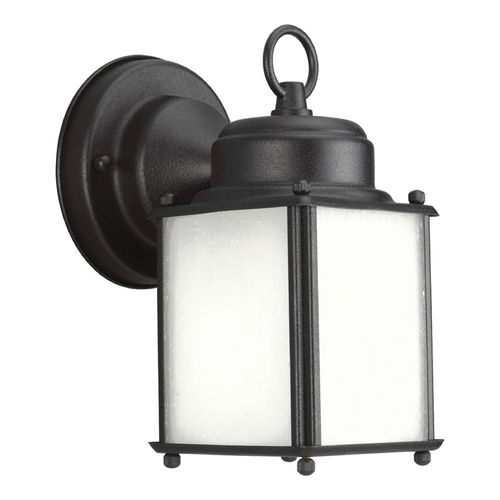 Progress Lighting Progress Outdoor Wall Light with White in Black Finish P5986-31