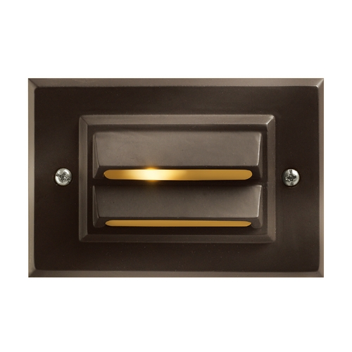 Hinkley Lighting Horizontal Recessed Deck and Step Light 1546BZ