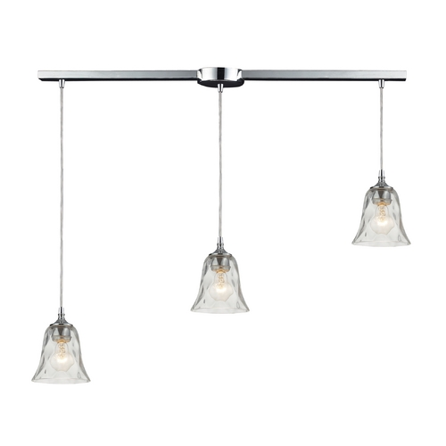 Elk Lighting Multi-Light Pendant Light with Clear Glass and 3-Lights 46010/3L