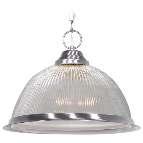 Nuvo Lighting Prismatic Glass Pendant Light Brushed Nickel Nuvo Lighting 76/446