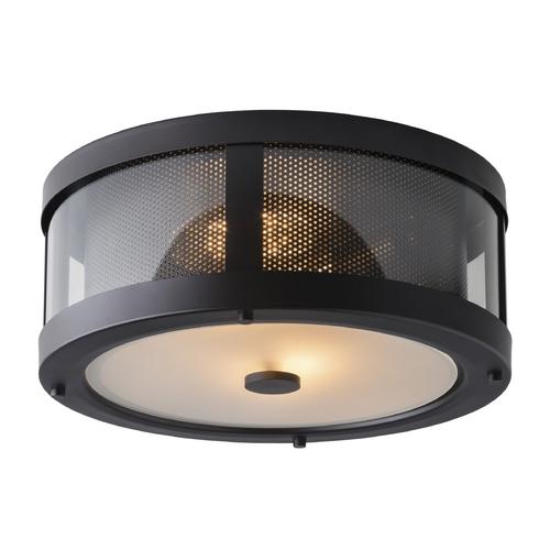 Feiss Lighting Bluffton Oil Rubbed Bronze Flushmount Light