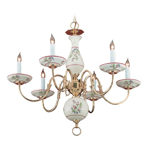 Crystorama Lighting Crystorama Lighting Hot Deal Polished Brass Chandelier 4115-PB-R