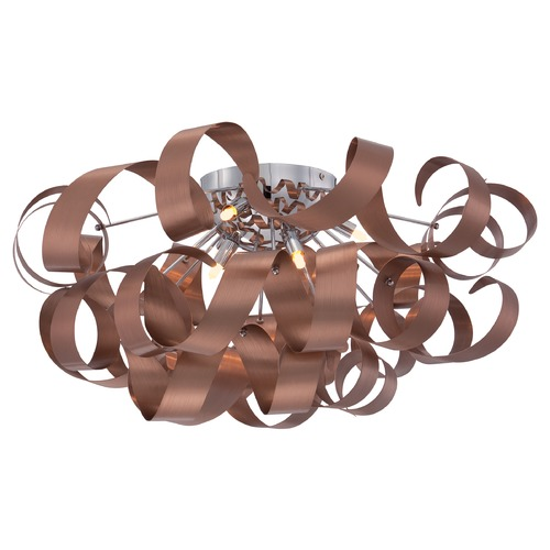 Quoizel Lighting Quoizel Ribbons Satin Copper Flushmount Light RBN1628SG