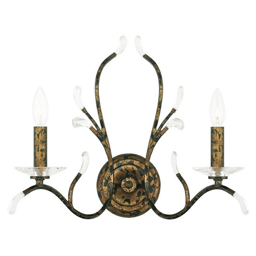 Livex Lighting Livex Lighting Serafina Hand Applied Venetian Golden Bronze Sconce 51002-71