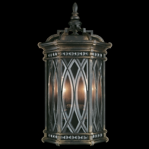 Fine Art Lamps Fine Art Lamps Warwickshire Dark Wrought Iron Patina Outdoor Wall Light 611881ST