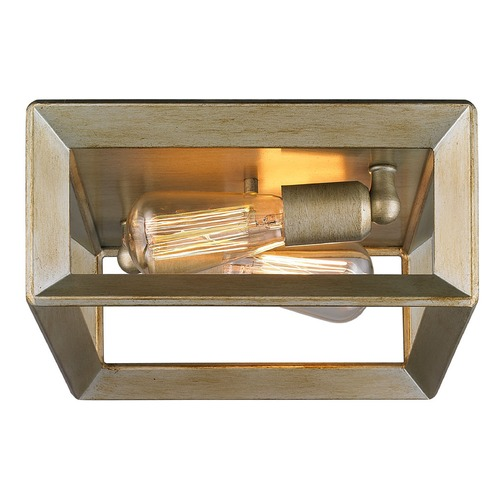 Golden Lighting Golden Lighting Smyth White Gold Flushmount Light 2073-FM WG