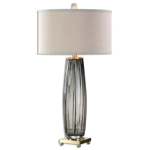Uttermost Lighting Uttermost Vilminore Gray Glass Table Lamp 26698-1