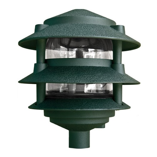 Dabmar Lighting Green Cast Aluminum Three Tier Pagoda Light D5000-G