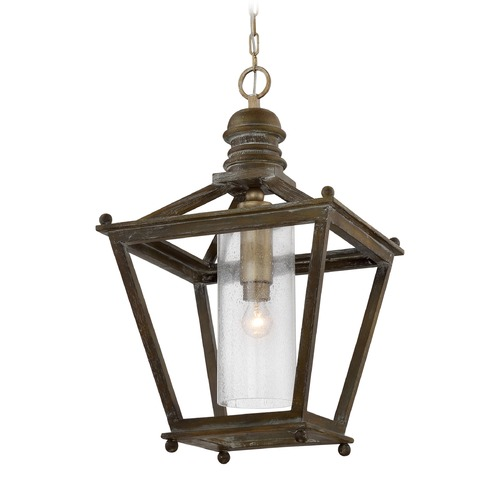 Quoizel Lighting Quoizel Lighting Sanctuary Driftwood Pendant Light with Cylindrical Shade CKSC5201DR