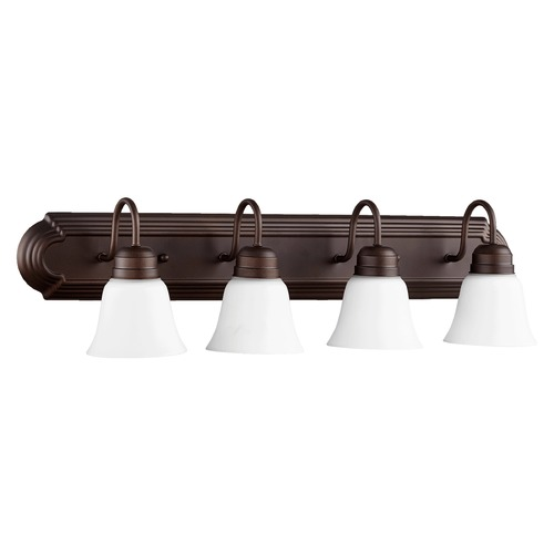Quorum Lighting Quorum Lighting Oiled Bronze Bathroom Light 5094-4-86