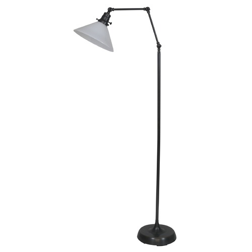 House of Troy Lighting House Of Troy Otis Oil Rubbed Bronze Floor Lamp with Conical Shade OT600-OB-WT
