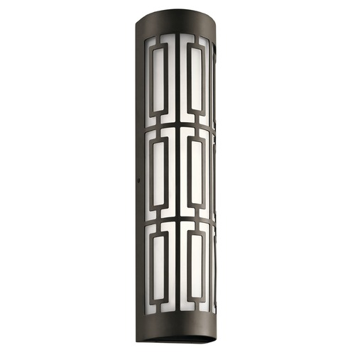 Kichler Lighting Art Deco LED Outdoor Wall Light Bronze Empire by Kichler Lighting 49779OZLED