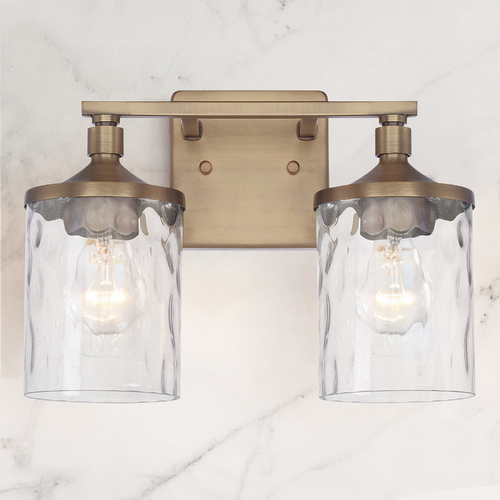 HomePlace by Capital Lighting Homeplace By Capital Lighting Colton Aged Brass Bathroom Light 128821AD-451