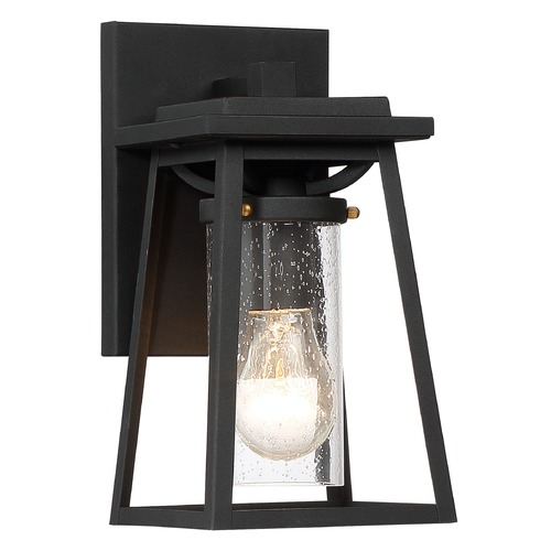Minka Lavery Minka Lavery Lanister Court Sand Black Gold Highlights Outdoor Wall Light 72711-66G