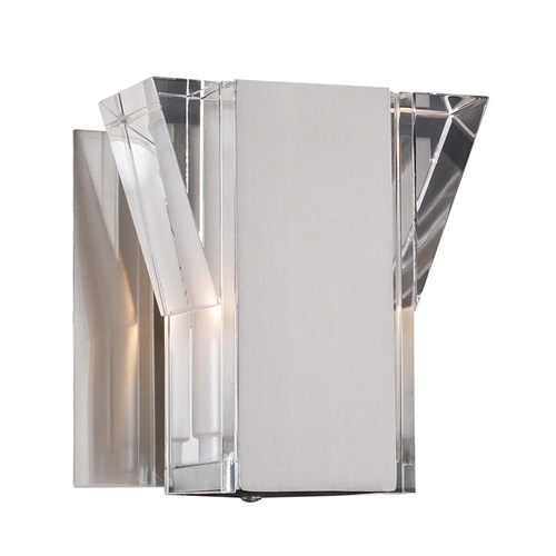 PLC Lighting Modern Sconce Wall Light with Clear Glass in Polished Chrome Finish 36637 PC