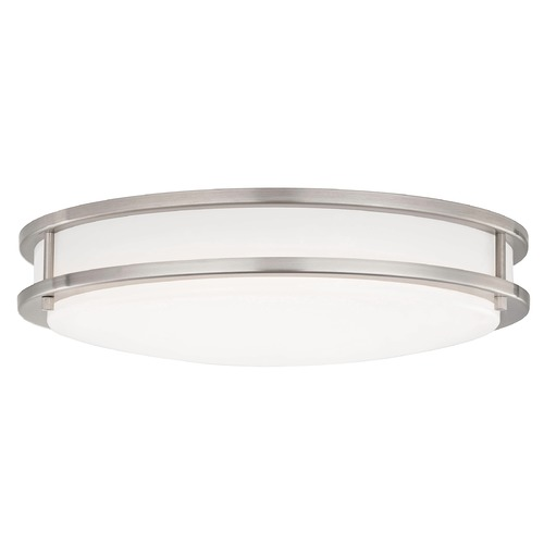 Design Classics Lighting LED Flush Ceiling Light Satin Nickel 17-Inch 3016-90-09