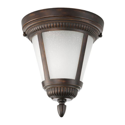Progress Lighting Close To Ceiling Light with White Glass in Antique Bronze Finish P3883-20WB