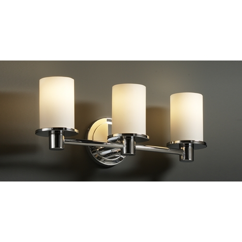 Justice Design Group Justice Design Group Fusion Collection Bathroom Light FSN-8513-10-OPAL-CROM