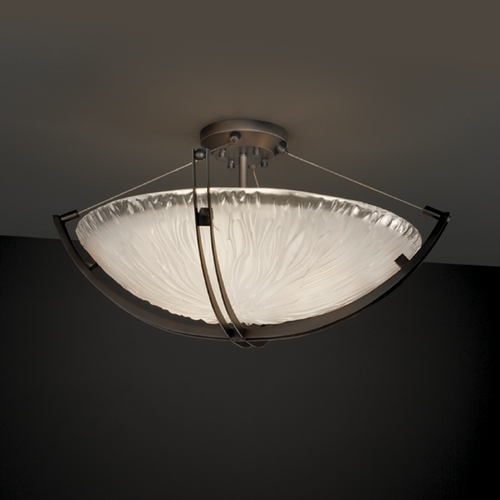 Justice Design Group Justice Design Group Veneto Luce Collection Semi-Flushmount Light GLA-9712-35-WTFR-DBRZ