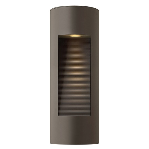 Hinkley Modern Outdoor Wall Light with Etched in Bronze Finish 1660BZ