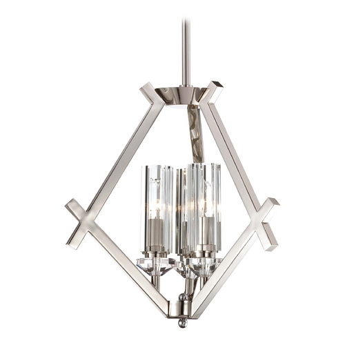 Metropolitan Lighting Mini-Chandelier with Clear Glass in Polished Nickel Finish N6832-613