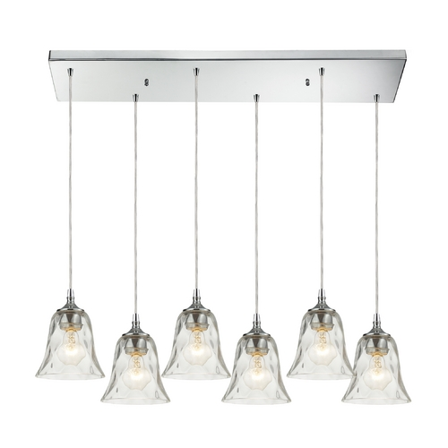 Elk Lighting Multi-Light Pendant Light with Clear Glass and 6-Lights 46010/6RC
