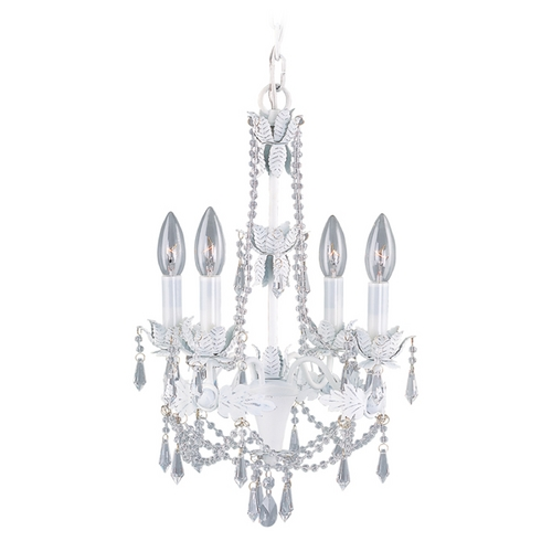Livex Lighting Livex Lighting Athena Antique White Crystal Chandelier 8184-60