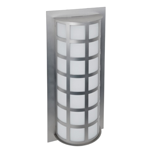 Besa Lighting Besa Lighting Scala Brushed Aluminum Outdoor Wall Light SCALA20-WA-BA