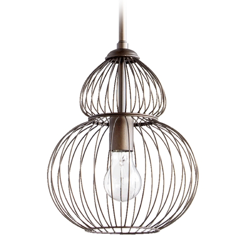 Quorum Lighting Quorum Lighting Oiled Bronze Mini-Pendant Light 6774-1-86