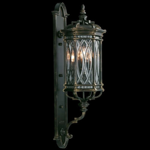 Fine Art Lamps Fine Art Lamps Warwickshire Dark Wrought Iron Patina Outdoor Wall Light 612081ST