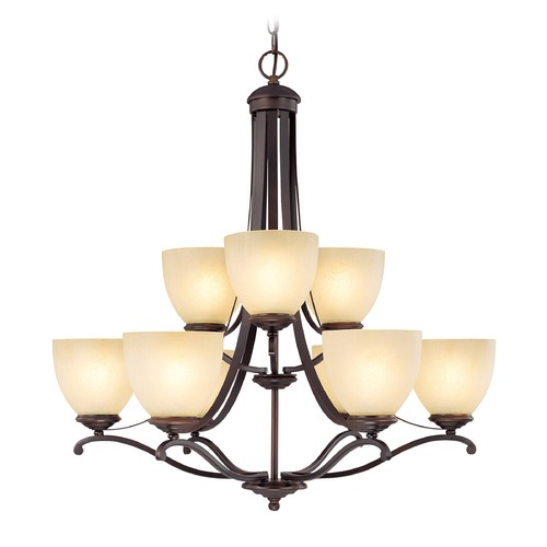 Capital Lighting Capital Lighting Chapman Burnished Bronze Chandelier 3949BB-201