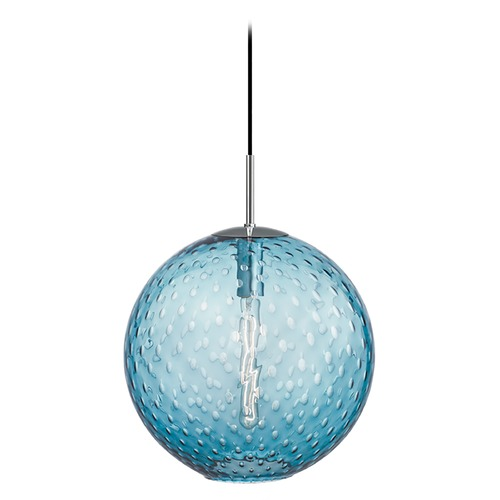 Hudson Valley Lighting Hudson Valley Lighting Rousseau Polished Chrome Pendant Light with Globe Shade 2015-PC-BL