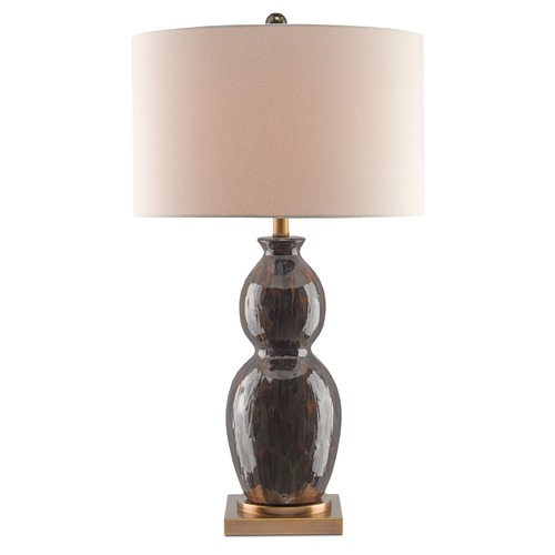 Currey and Company Lighting Currey and Company Apropos Tortoise Shell/antique Brass Table Lamp with Drum Shade 6917