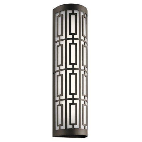 Kichler Lighting Art Deco LED Outdoor Wall Light Bronze Empire by Kichler Lighting 49780OZLED