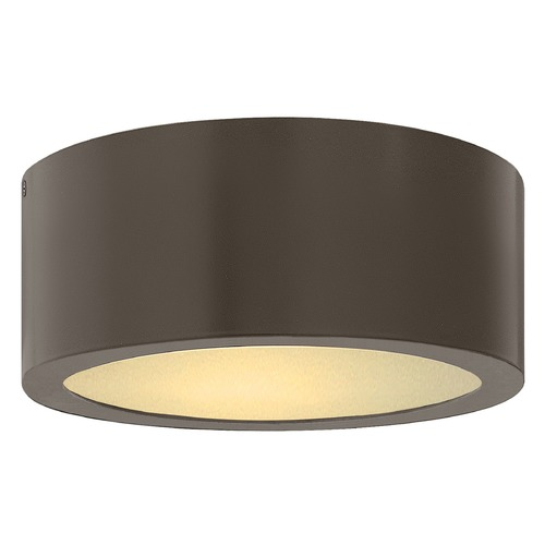 Hinkley Hinkley Luna Bronze LED Close to Ceiling Light with Etched Glass 3000K 600LM 1665BZ