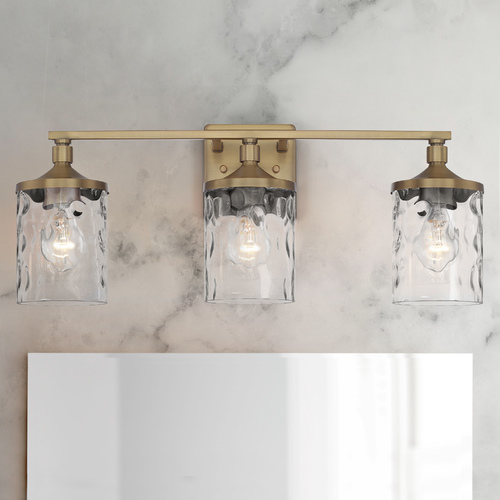 HomePlace by Capital Lighting Homeplace By Capital Lighting Colton Aged Brass Bathroom Light 128831AD-451