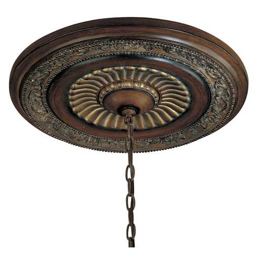 Minka Lavery Ceiling Medallion in Walnut Finish - 20-3/4-Inches Wide 1940-126