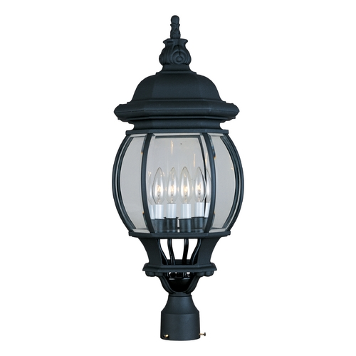 Maxim Lighting Post Light with Clear Glass in Black Finish 1038BK