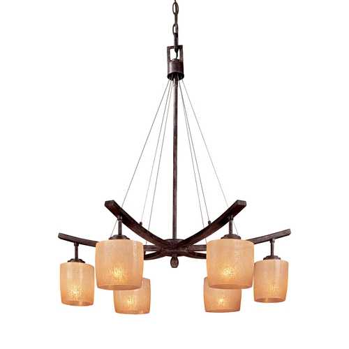 Minka Lavery Minka 1-Tier 6-Light Chandelier in Iron Oxide 1186-357