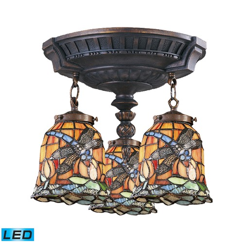 Elk Lighting Elk Lighting Mix-N-Match Aged Walnut LED Semi-Flushmount Light 997-AW-12-LED