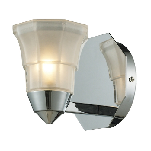 Elk Lighting Modern Sconce Wall Light with White Glass in Polished Chrome Finish 11390/1