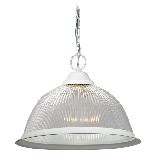 Nuvo Lighting Prismatic Glass Pendant Light White Nuvo Lighting 76/448