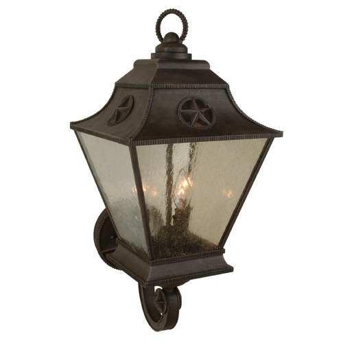 Craftmade Lighting Seeded Glass Outdoor Wall Light Bronze Craftmade Lighting Z1410-07